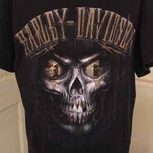 Harley-Davidson Men's Large Gold Skull
